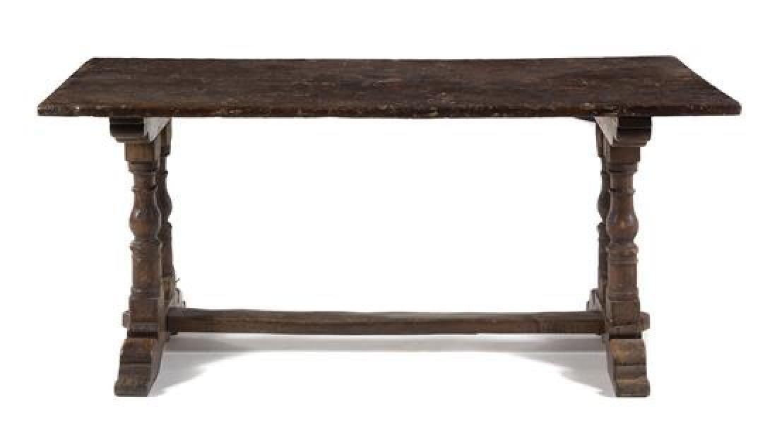 An Italian Walnut Refectory Table
