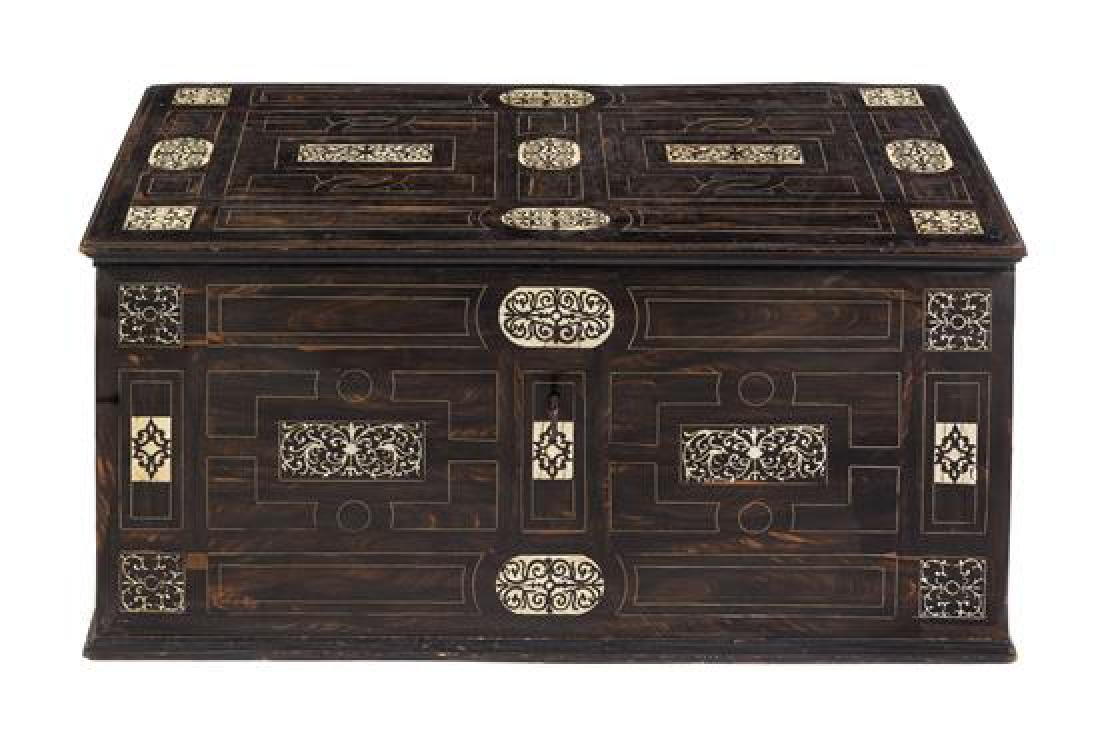 An Italian Inlaid Trunk