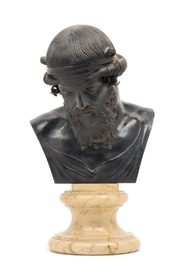 A Continental Bronze Bust