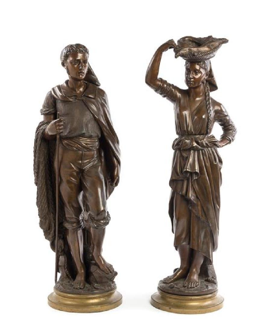 A Pair of Continental Bronze Figures