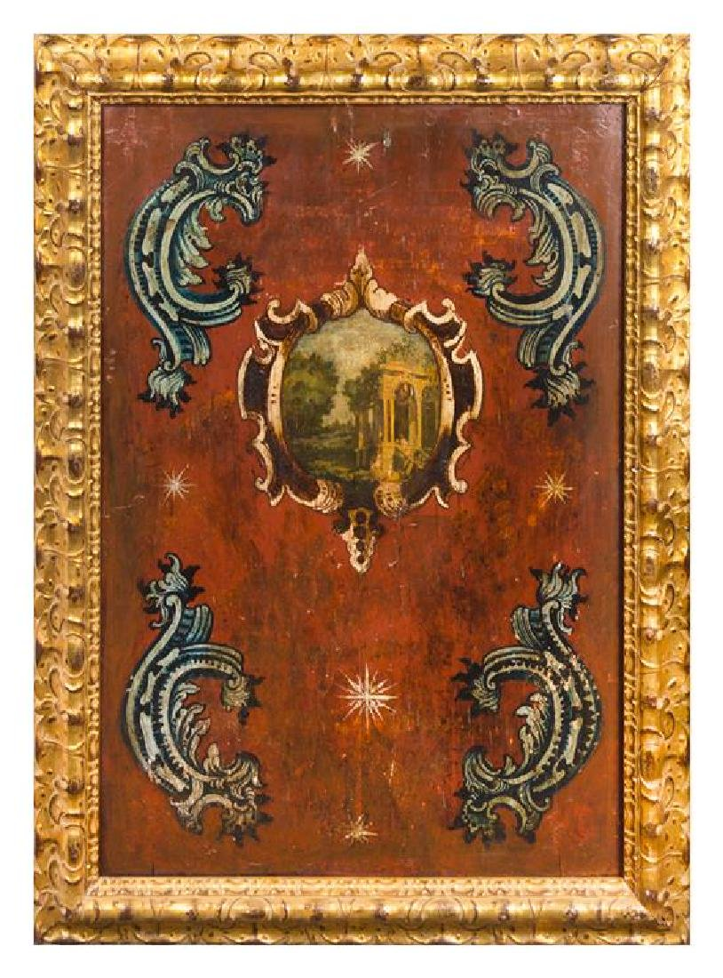 A Set of Four Italian Painted Panels - 3