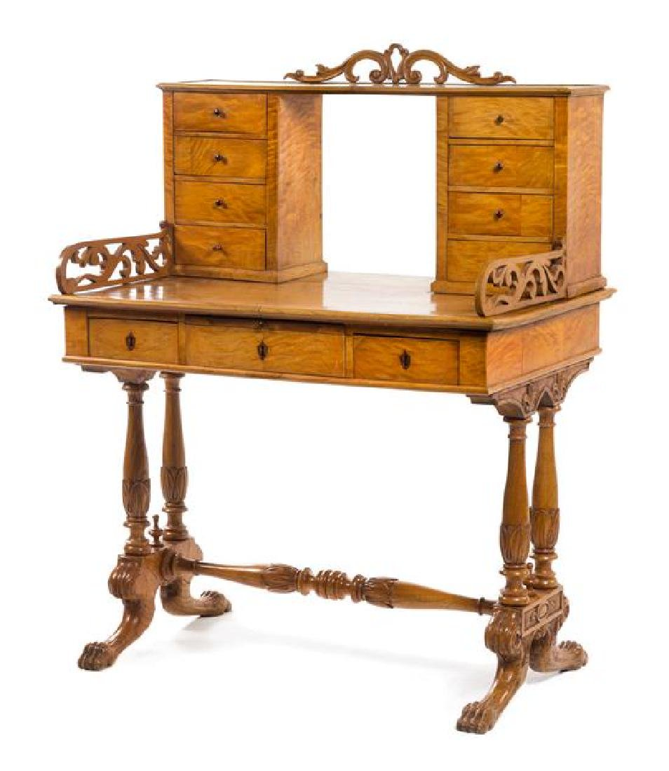 An Austrian Empire Birch Lady's Writing Table