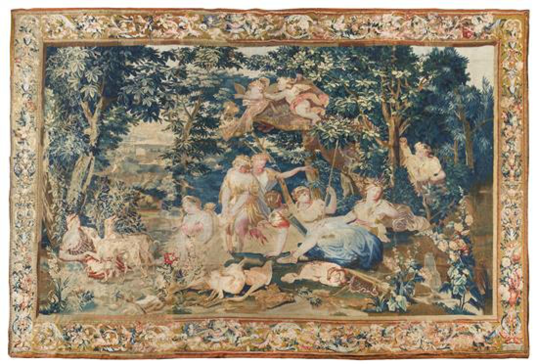 A Beauvais Wool and Silk Tapestry 11 feet 6 inches x 14