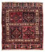 A Caucasian Wool Rug 4 feet 1 inch x 3 feet 10 inches.