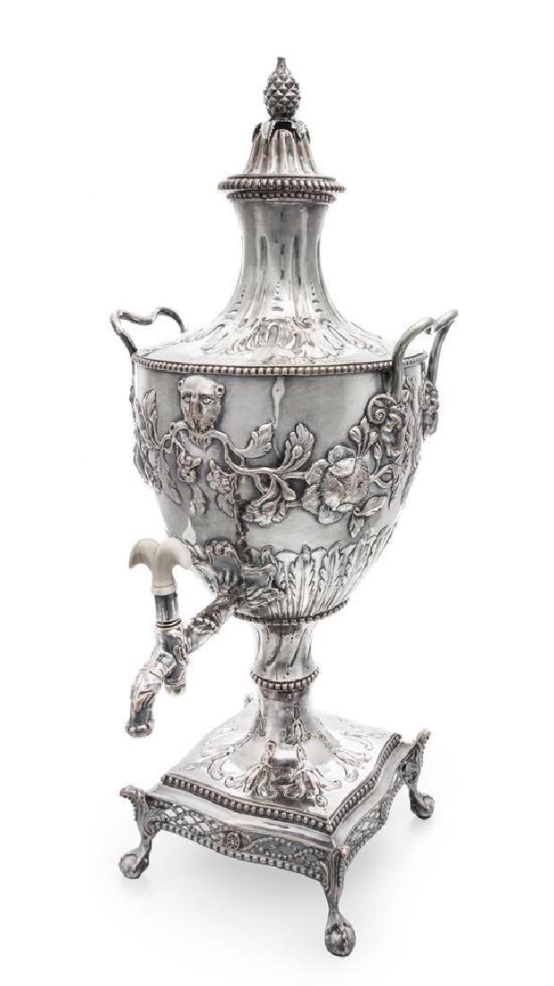 A George III Silver-Plate Hot Water Urn