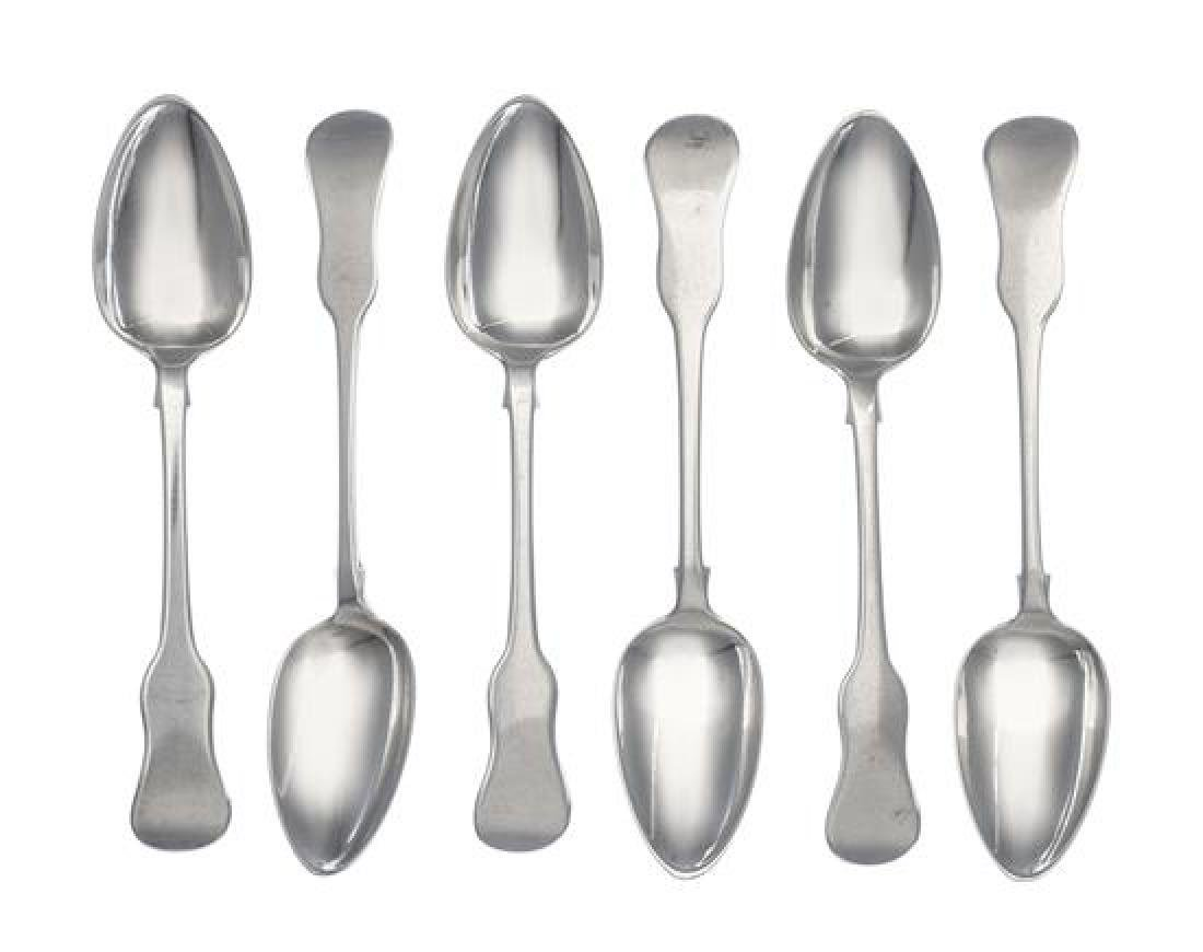 A Set of Six Irish George IV Silver Teaspoons