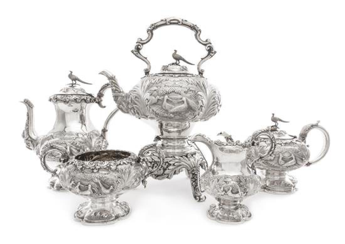 A William IV/Victorian Silver Six-Piece Tea and Coffee