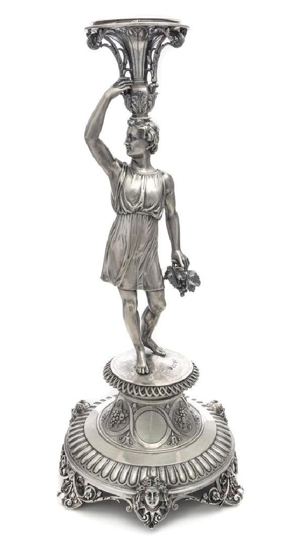 A Victorian Silver Centerpiece