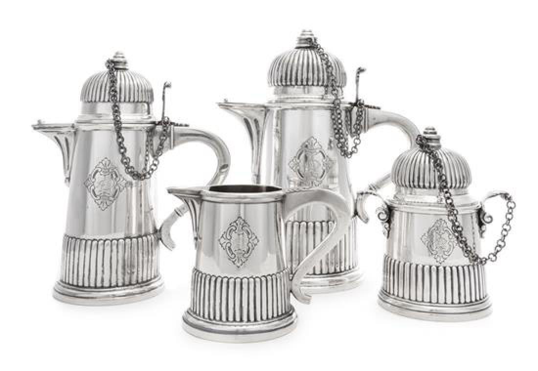 An Italian Silver Four-Piece Tea and Coffee Service