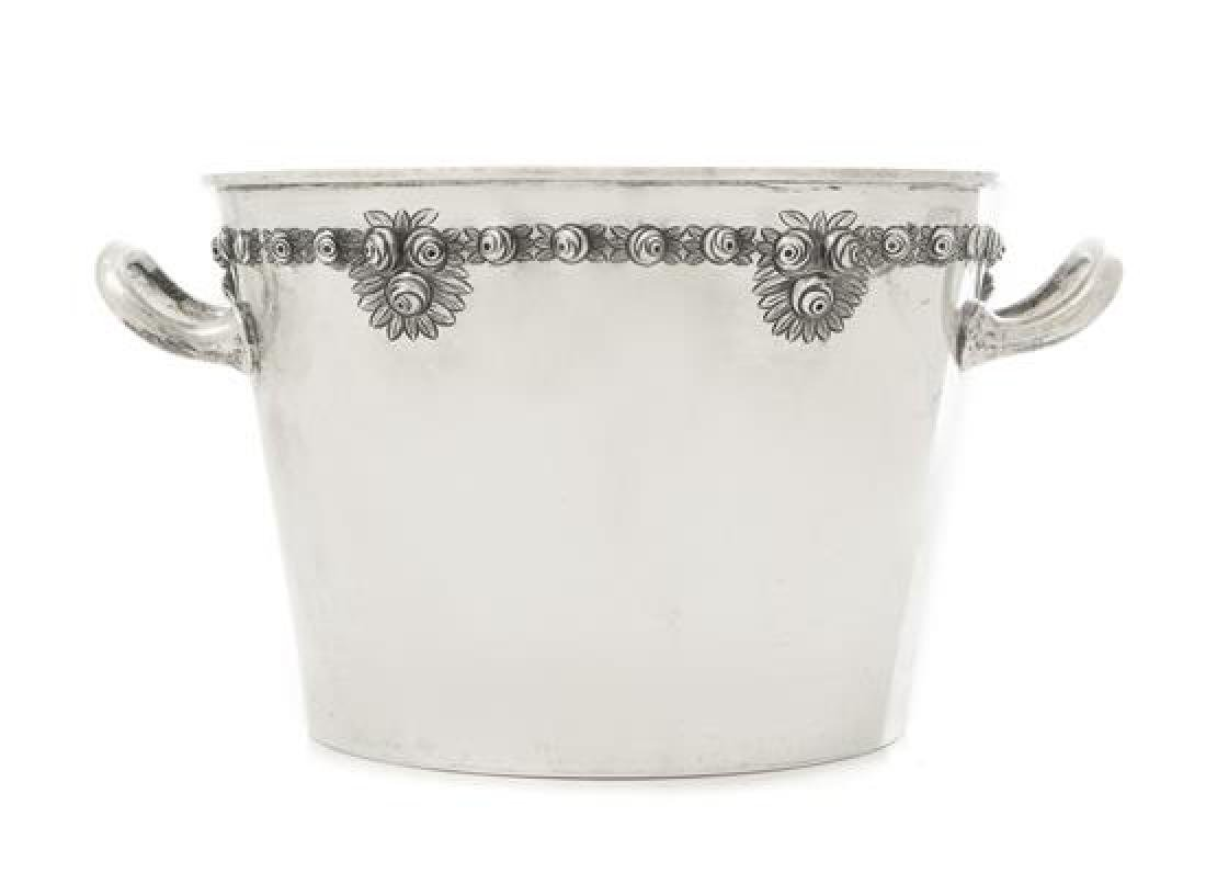A Mexican Silver Ice Bucket