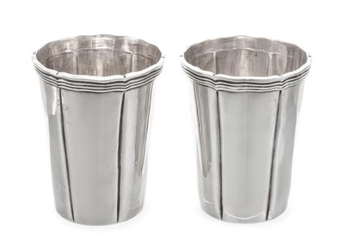 A Pair of Mexican Silver Julep Cups