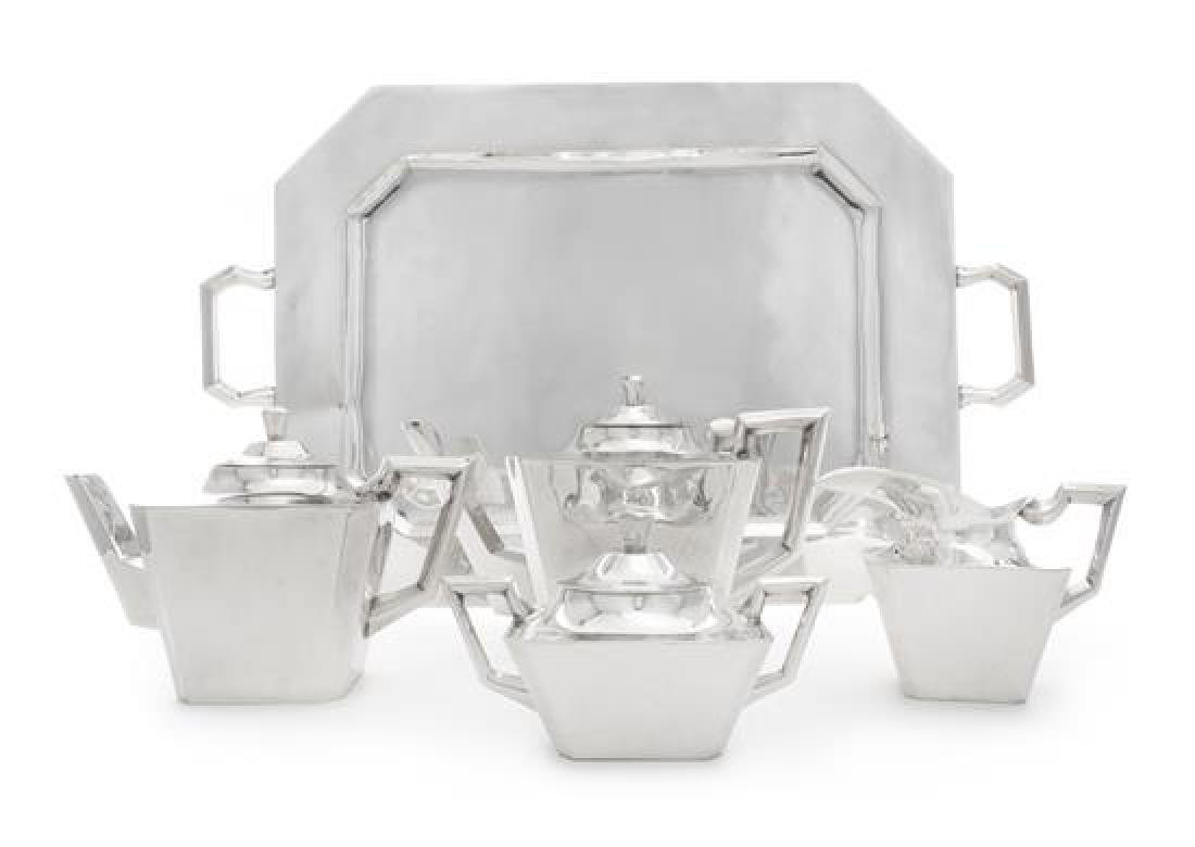 A Mexican Silver Five-Piece Tea and Coffee Service