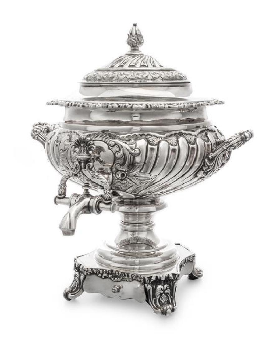 A Silver-Plate Coffee Urn