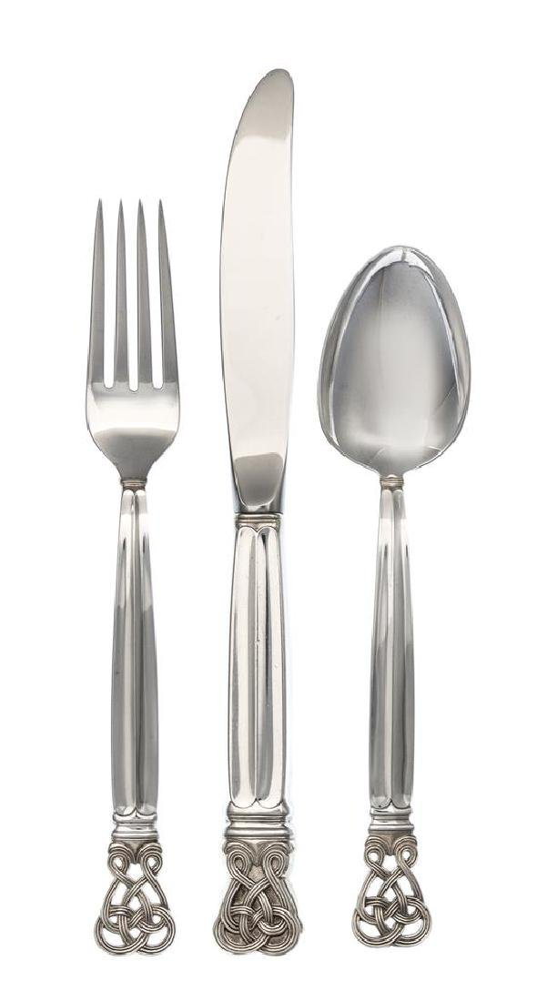 An American Silver and Parcel Gilt Flatware Service