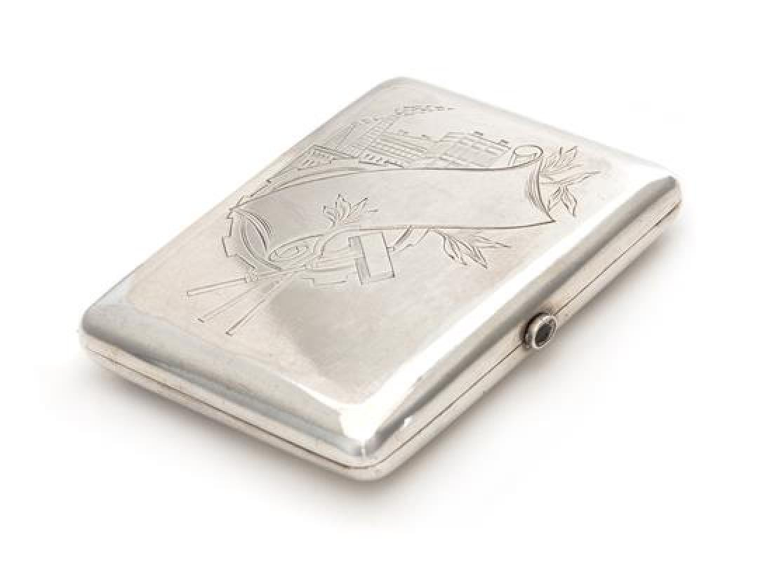 A Soviet-Era Lithuanian Silver Cigarette Case