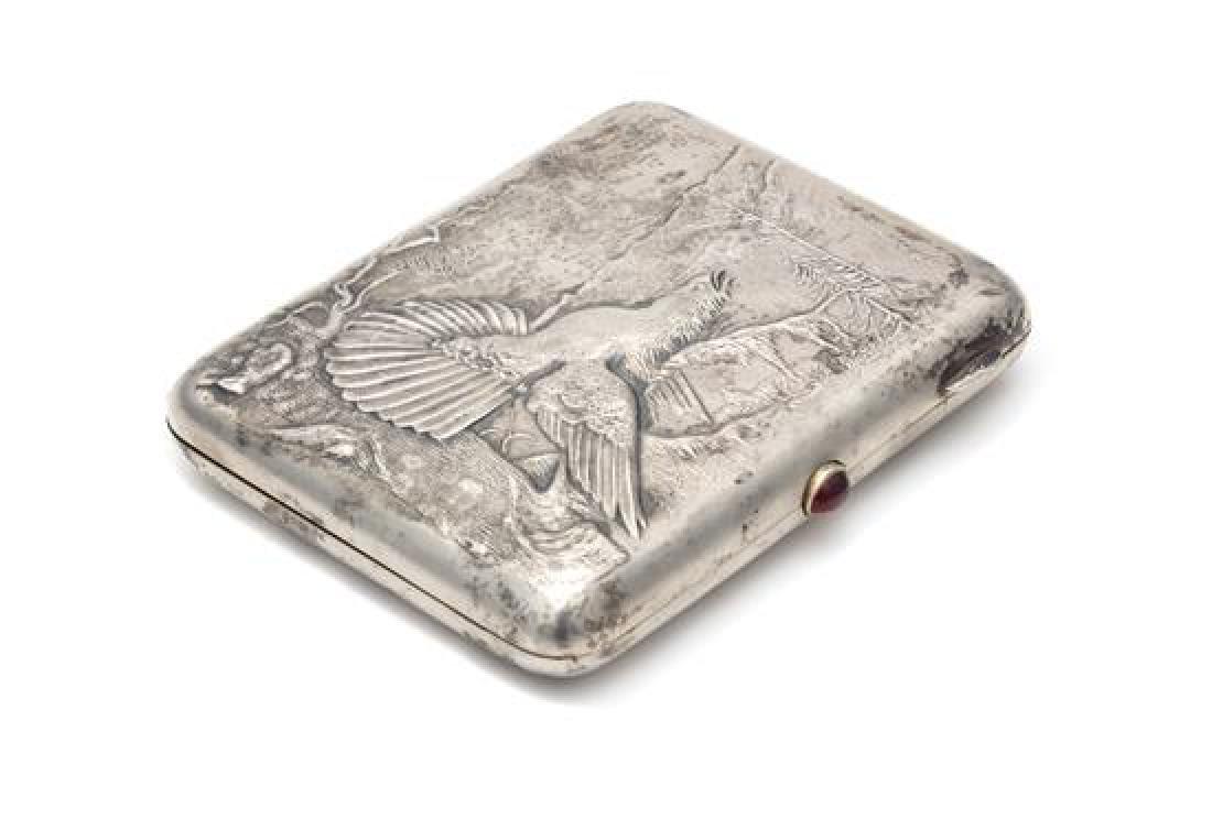 A Soviet-Era Russian Silver Cigarette Case