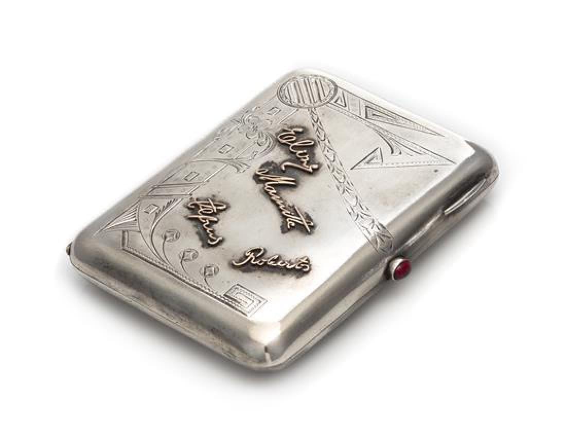 A Latvian Silver Cigarette Case