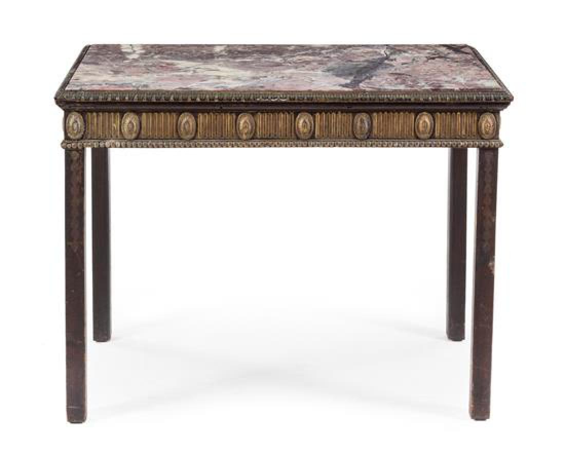 A George III Painted Console Table