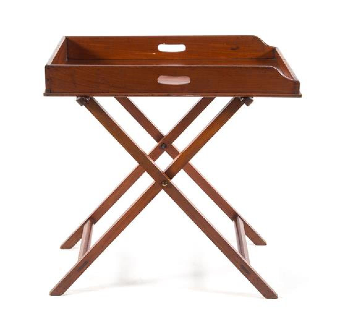 A George III Mahogany Butler's Tray on Stand