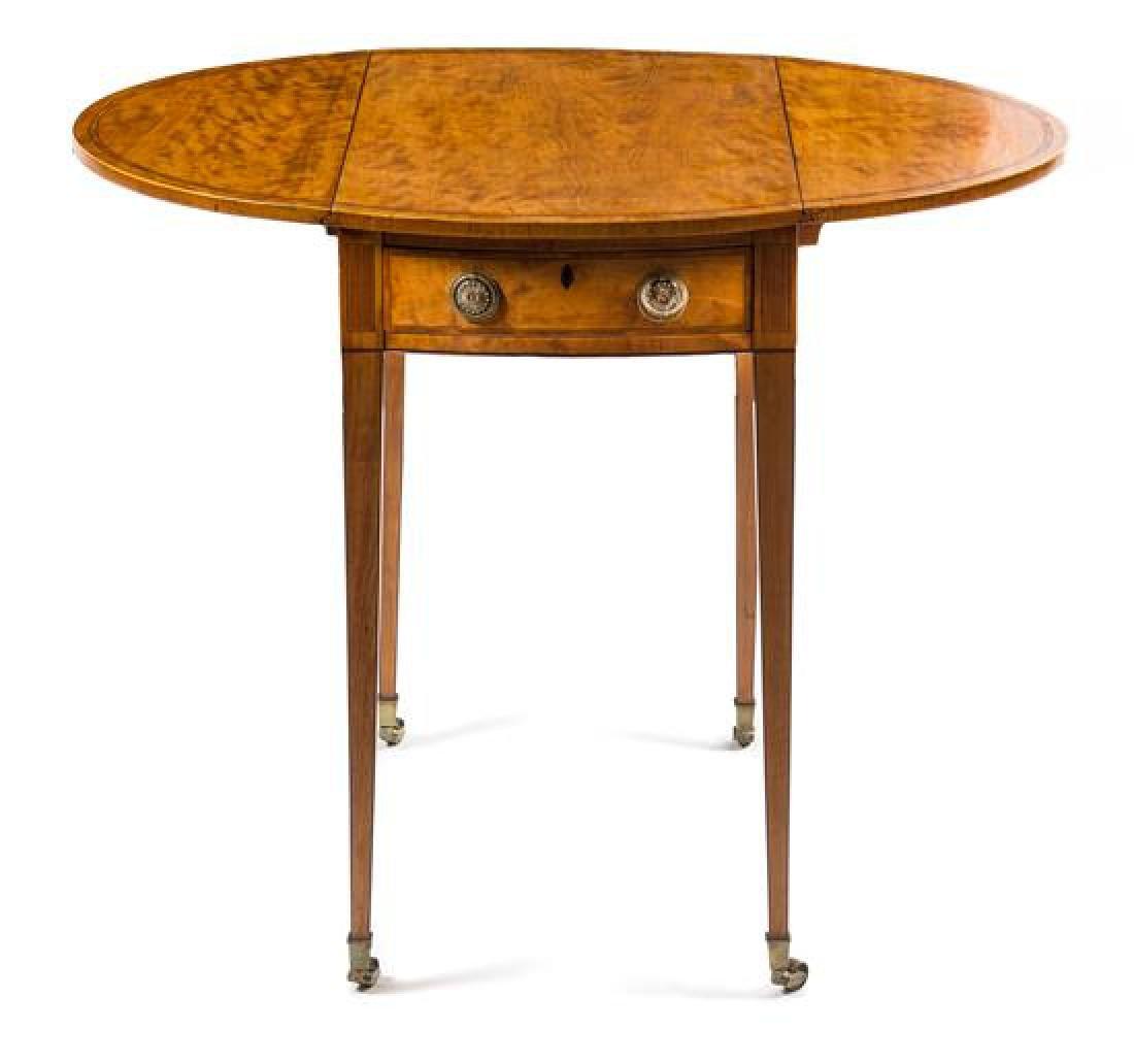 A George III Satinwood Pembroke Table