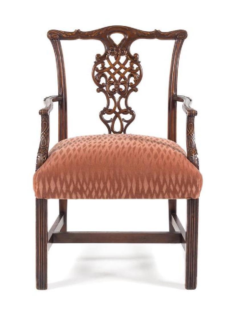 A George III Style Mahogany Armchair