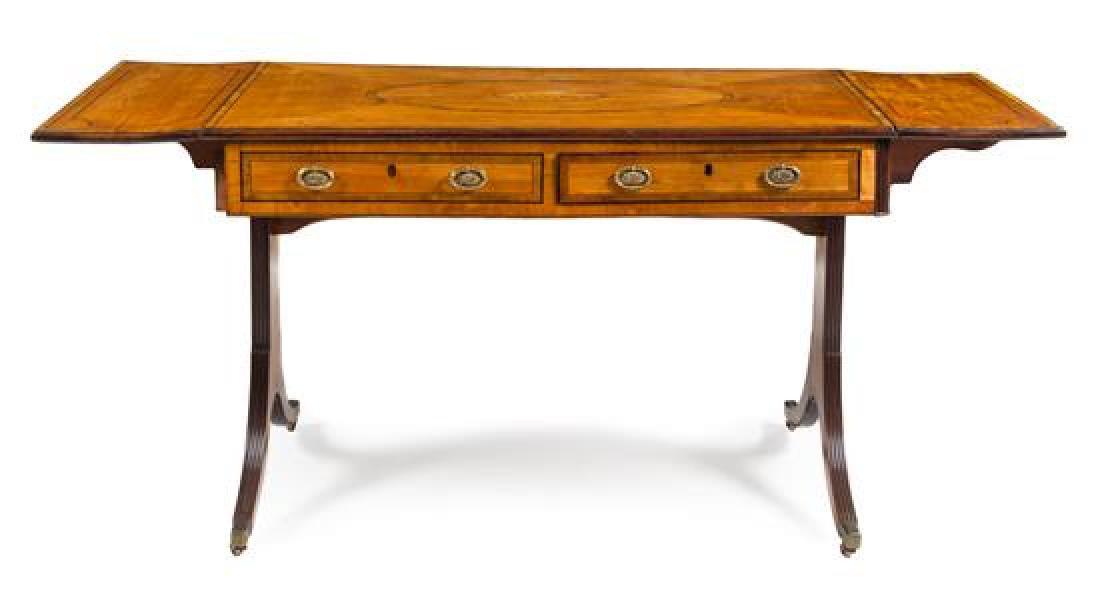 A George III Satinwood Sofa Table