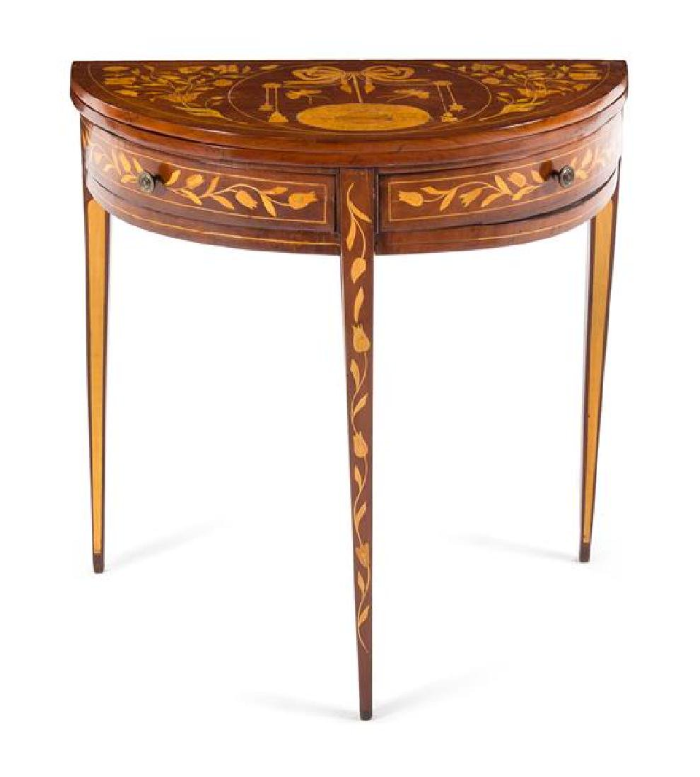 A George III Marquetry Flip-Top Table