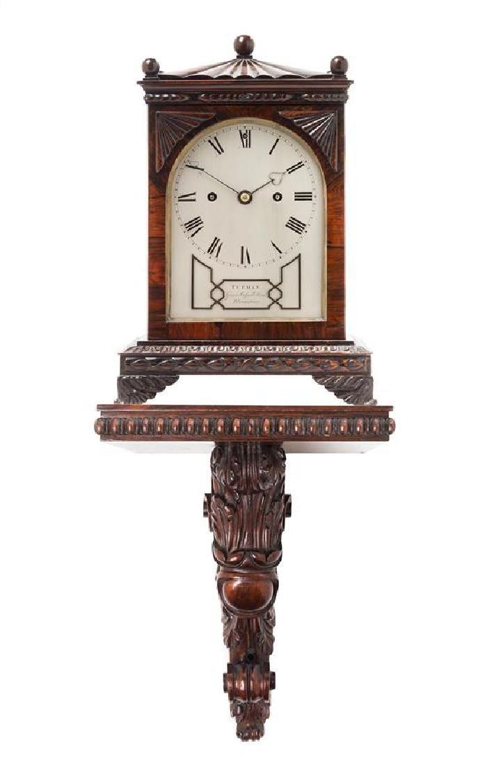 A Regency Rosewood Bracket Clock