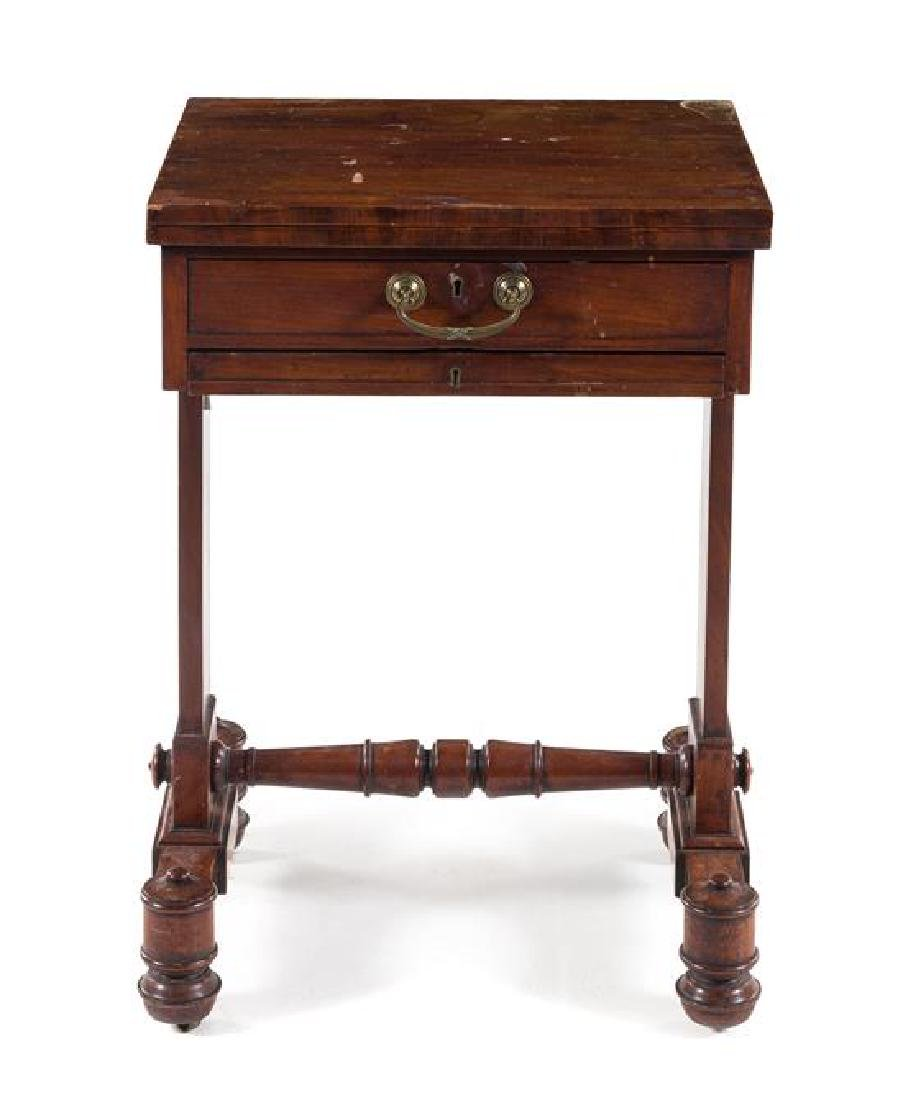 A Regency Mahogany Work Table