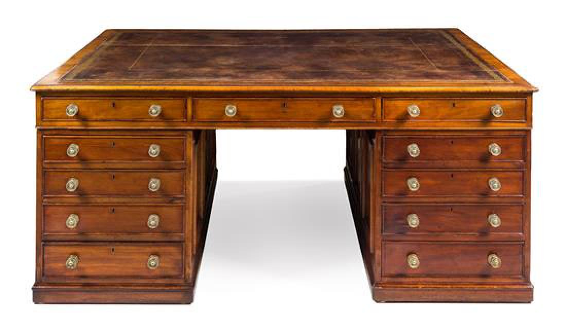 A Late William IV Mahogany Partners' Desk