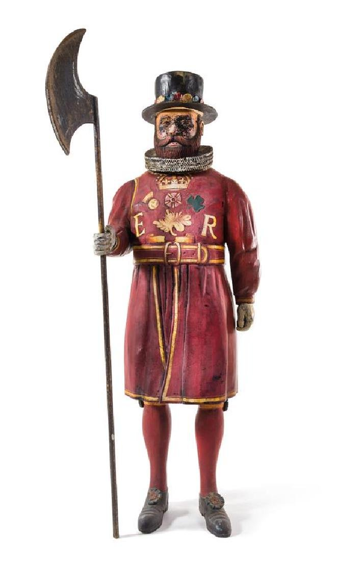 A Painted Composite Figure of a Beefeater