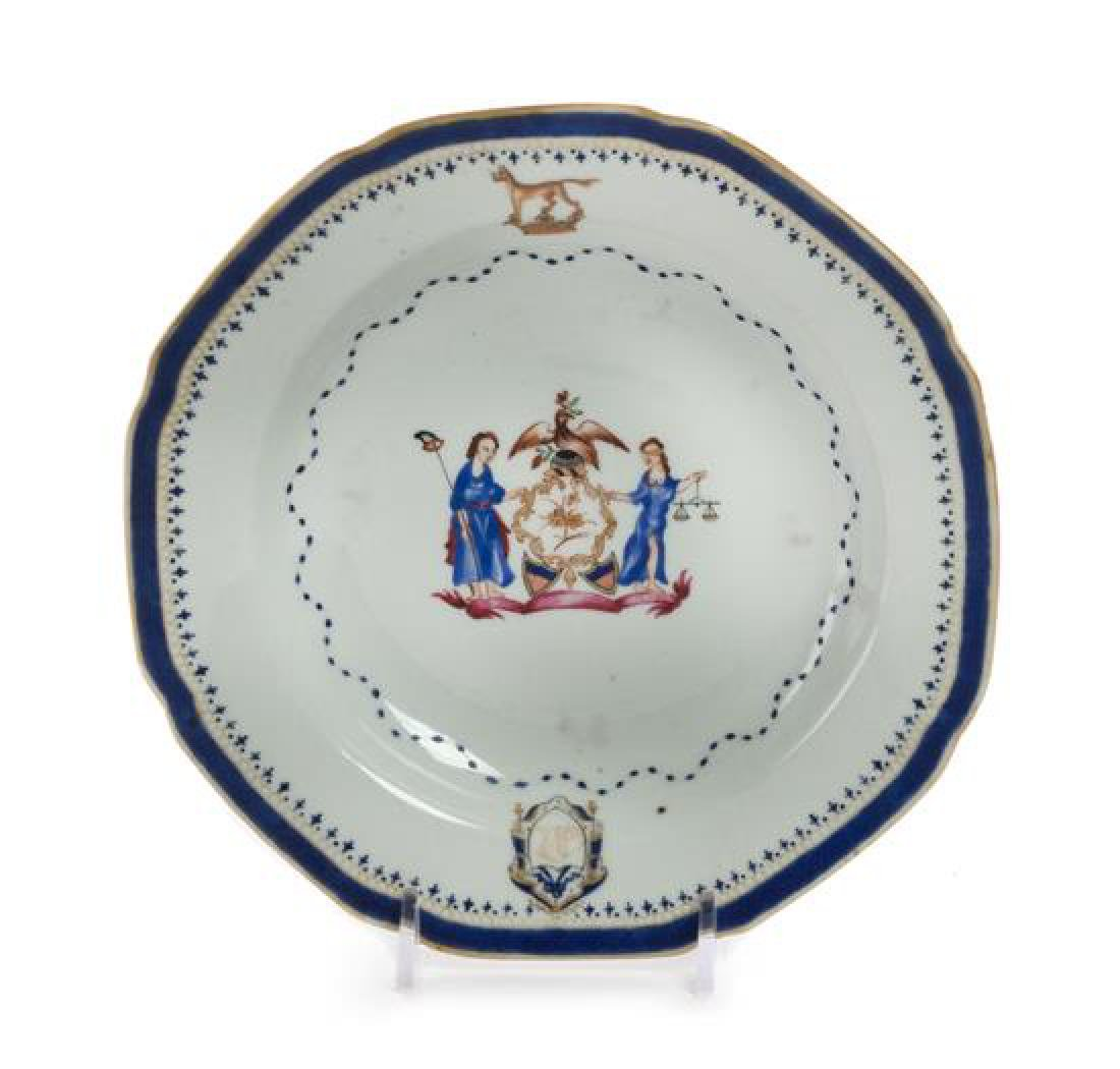 A Chinese Export Armorial Dish