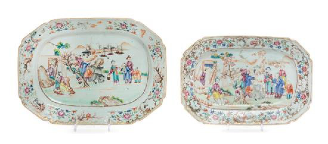 Two Chinese Export Porcelain Platters