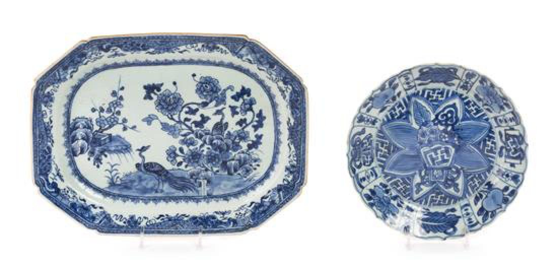 A Pair of Kangxi Blue and White Porcelain Plates