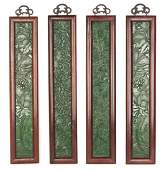 A Set of Four Chinese Jade Plaques