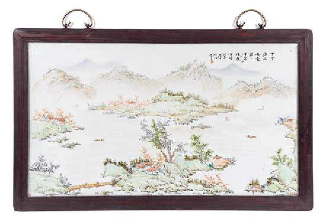 A Set of Four Chinese Porcelain Plaques