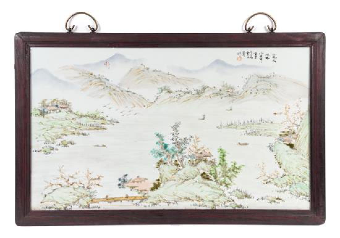 A Set of Four Chinese Porcelain Plaques - 3