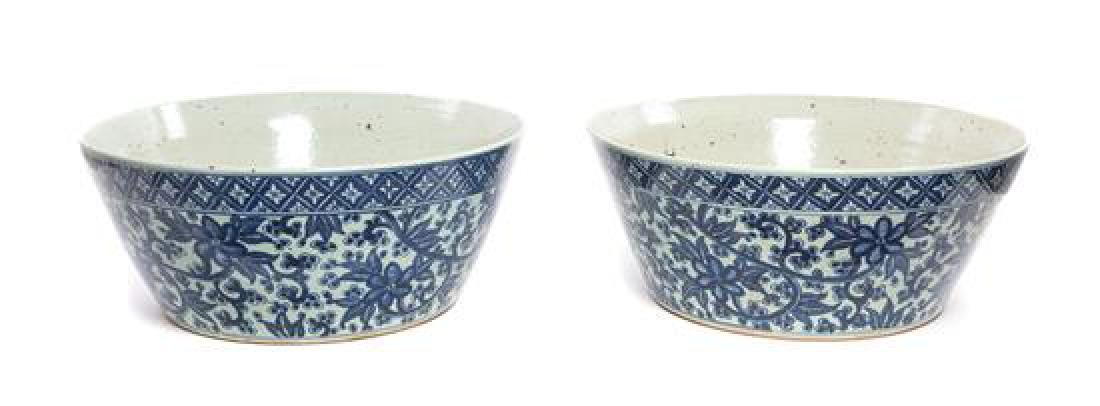A Pair of Chinese Porcelain Basins