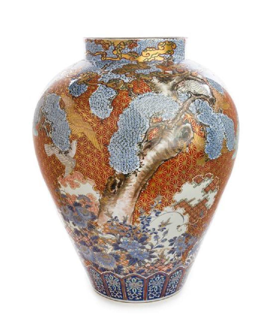 An Imari Palette Porcelain Vase
