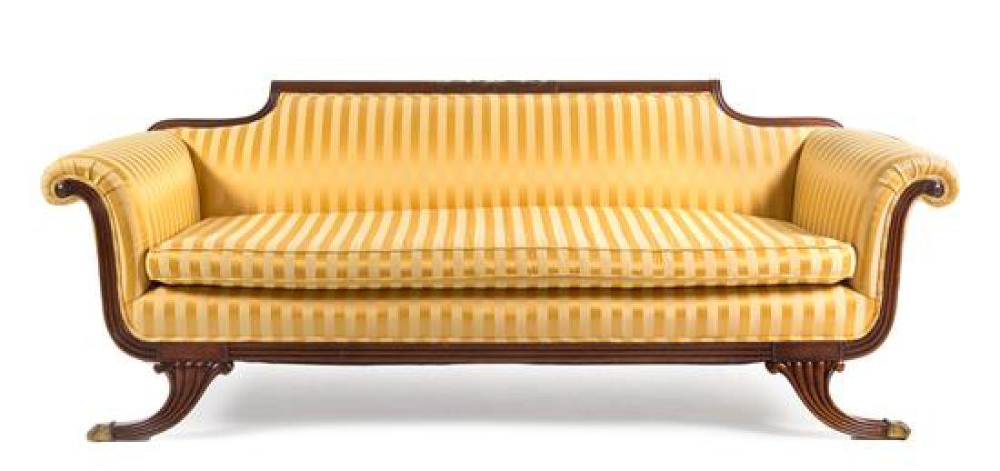 A Federal Style Mahogany Settee