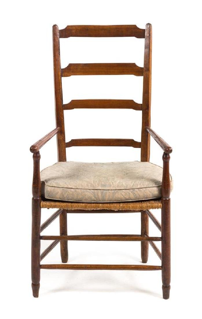 An American Ladder Back Armchair