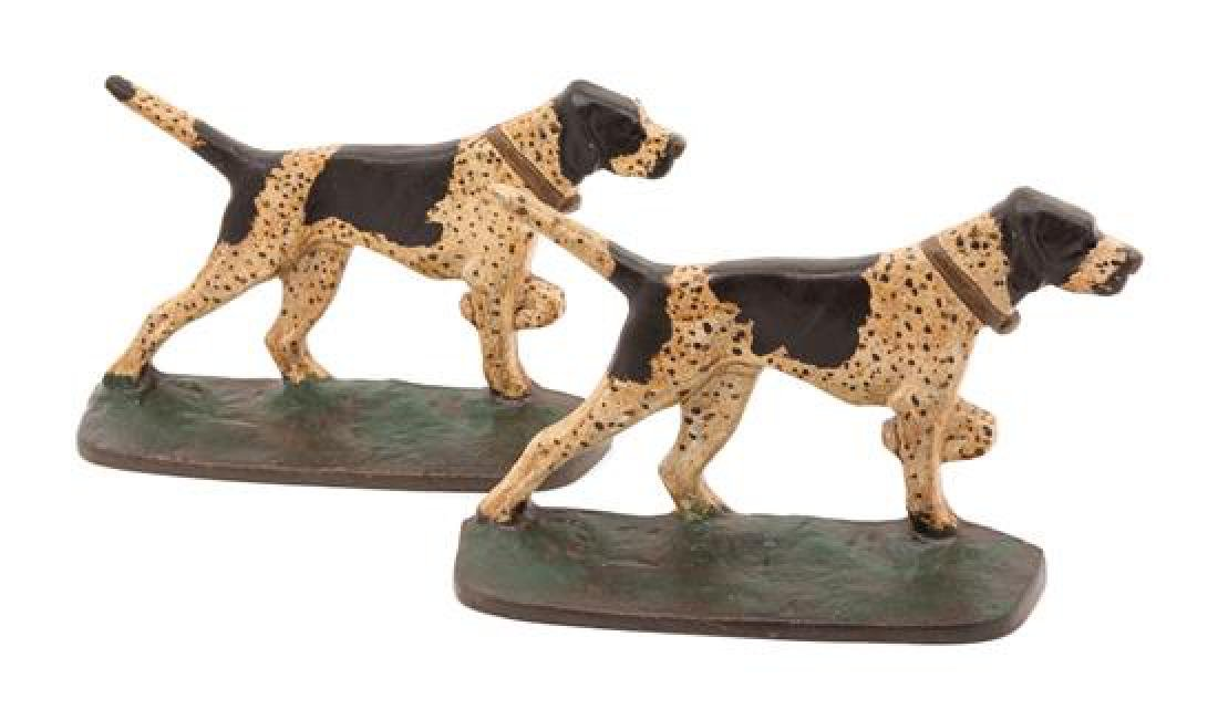 A Pair of Victorian Painted Iron Doorstops