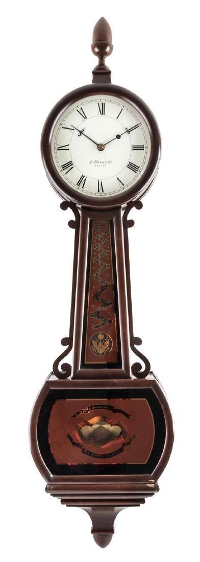An American Mahogany Bicentennial Banjo Clock