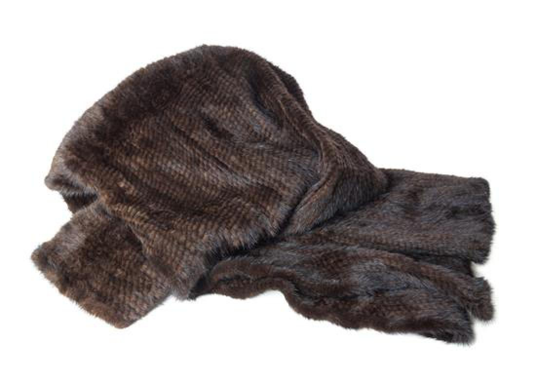 A Knitted Mink Throw