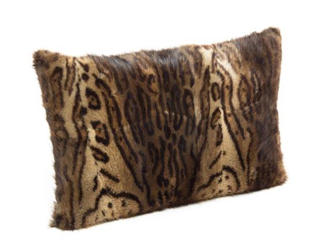 A Simulated Ocelot Fur Pillow