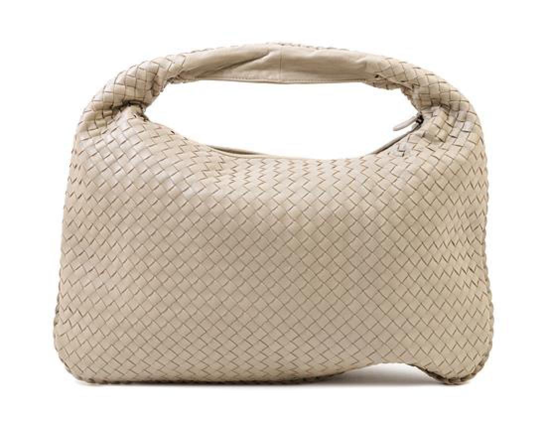 A Bottega Veneta Taupe Intrecciato Large Hobo Bag,