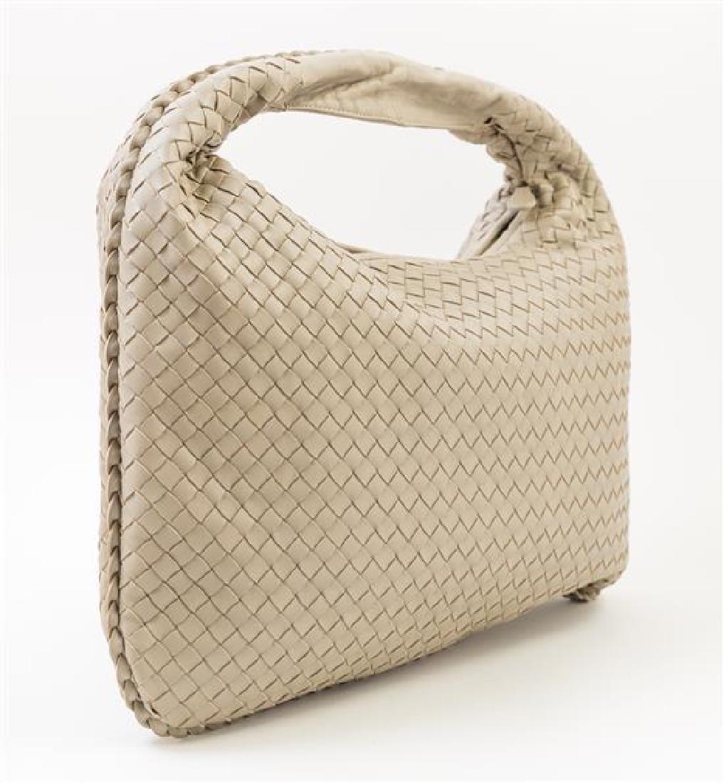 A Bottega Veneta Taupe Intrecciato Large Hobo Bag, - 2