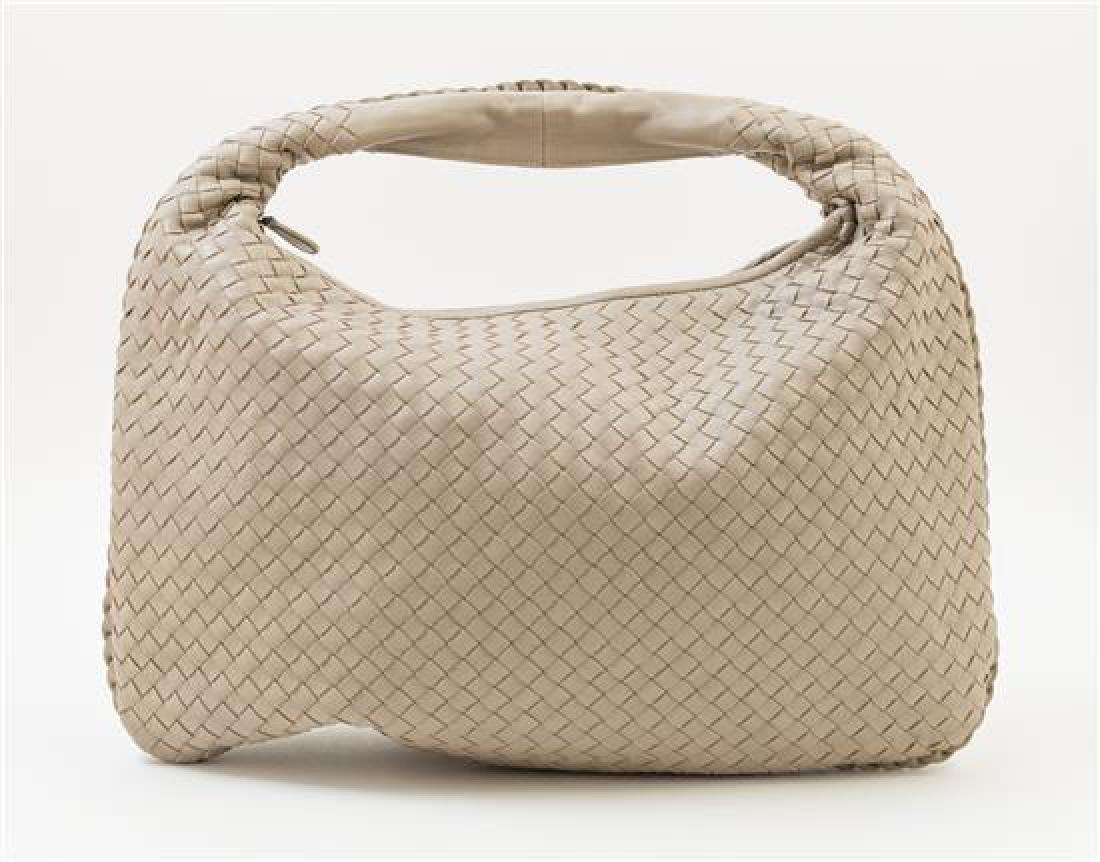 A Bottega Veneta Taupe Intrecciato Large Hobo Bag, - 3