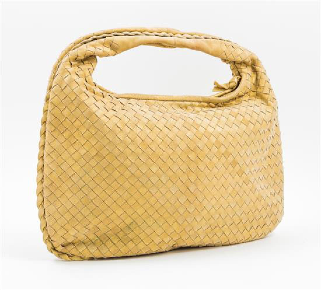 A Bottega Gold Shimmer Intrecciato Medium Hobo Bag, - 2