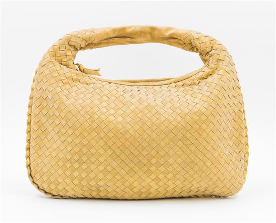 A Bottega Gold Shimmer Intrecciato Medium Hobo Bag, - 3